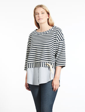 Striped double sweatshirt