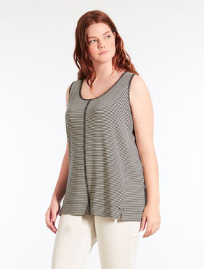 Striped jersey camisole
