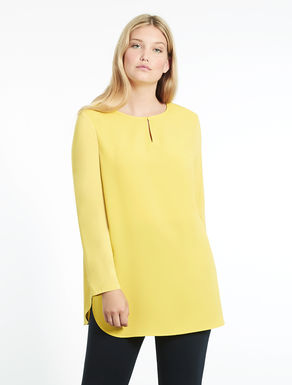 Jersey and fabric tunic