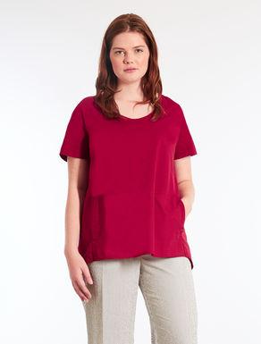 Jersey and poplin T-shirt