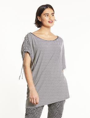 Striped viscose jersey T-shirt