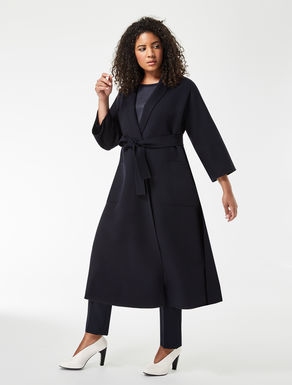Long double wool coat