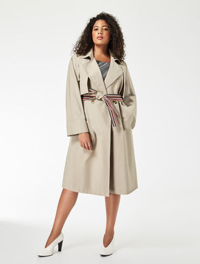Drop-proof double canvas trench coat