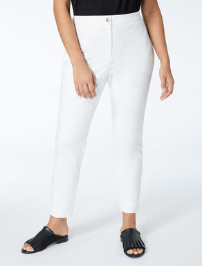 Stretch nylon and cotton trousers