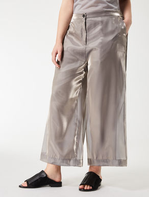 Cropped organza trousers