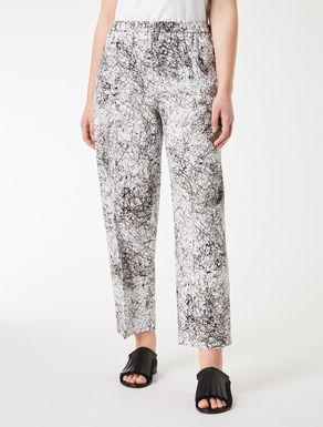Printed poplin trousers