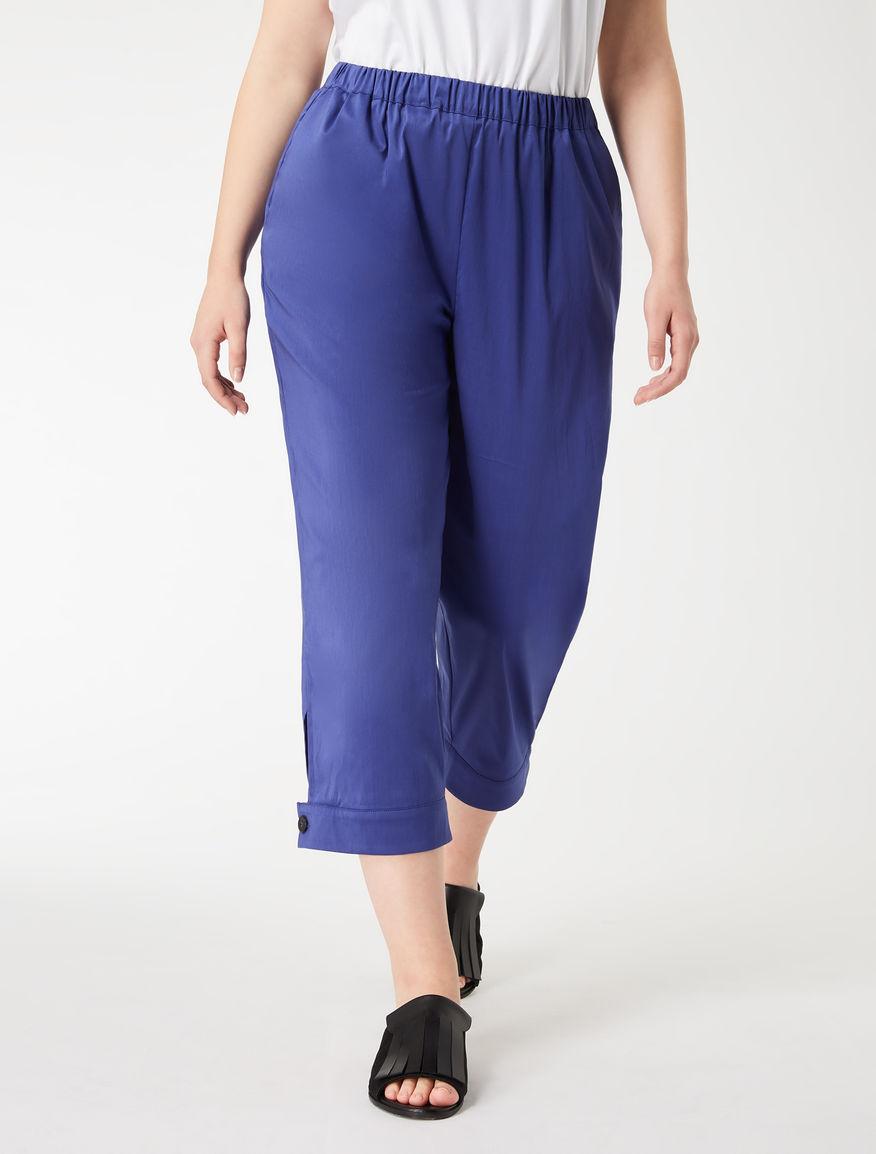 Cotton poplin trousers