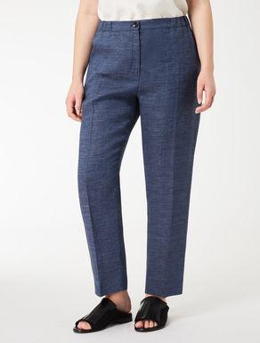 Linen crêpe cigarette trousers