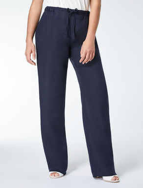 Pure linen trousers