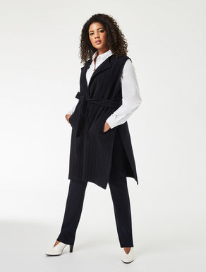 Reversible double wool gilet