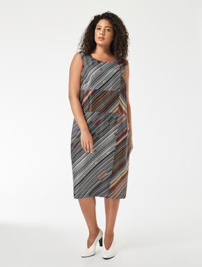 Silk twill tube dress
