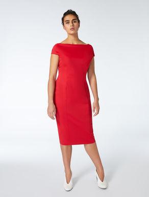 Crêpe jersey tube dress