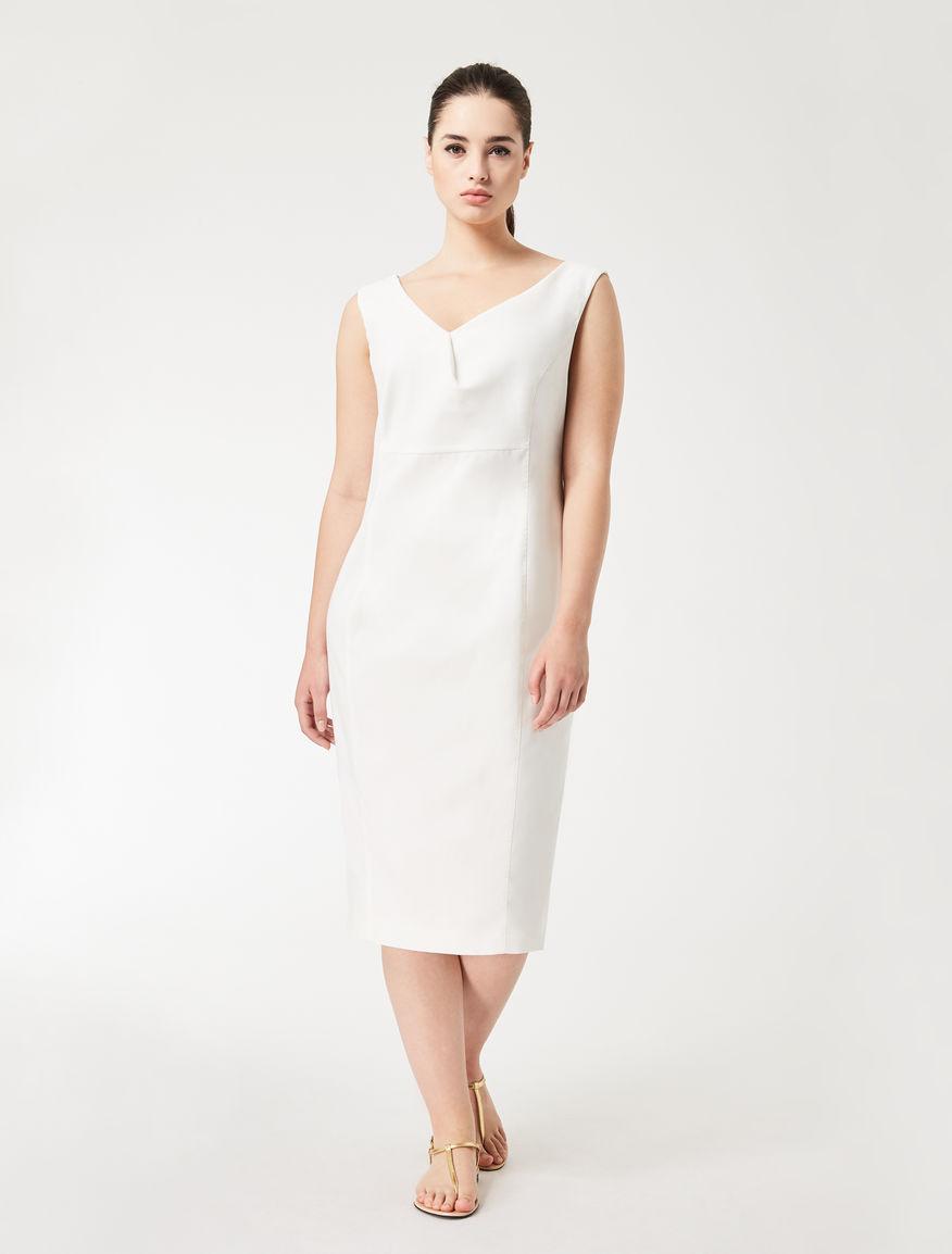 Cotton crêpe tube dress