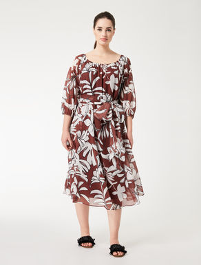 Printed muslin dress