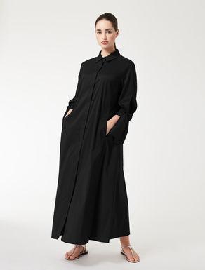 Long, poplin shirt dress