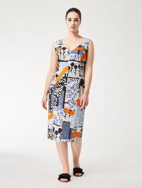 Cotton satin tube dress