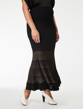 Long opaque viscose skirt