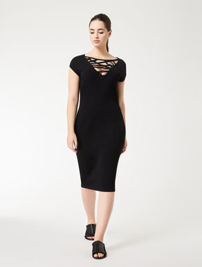 Opaque viscose tube dress