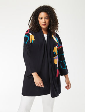 Long silk and cotton cardigan