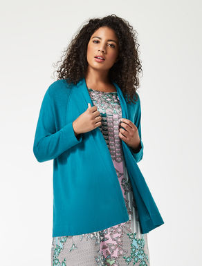 Cotton and silk cardigan