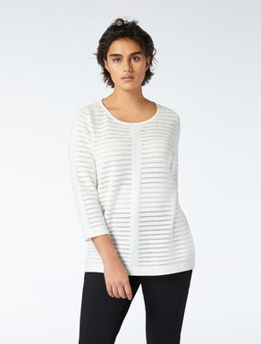 Openwork cotton jumper