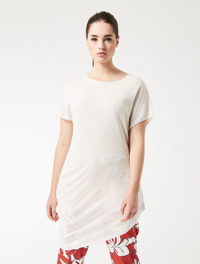 Asymmetric, linen blend sweater