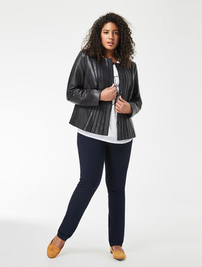Nappa and jersey jacket
