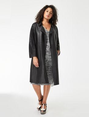 Nappa suede duster coat