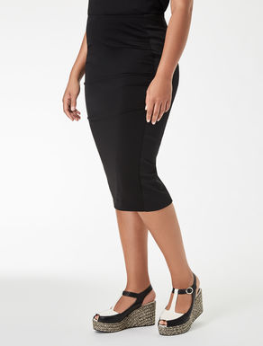 Crêpe jersey tube skirt