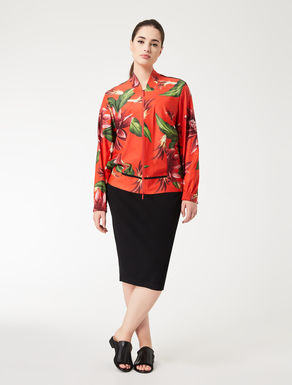 Printed, technical fabric jacket