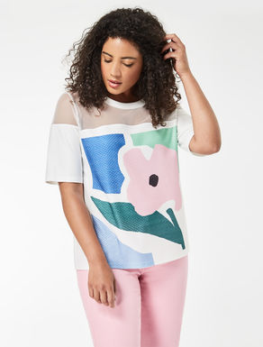Jacquard jersey T-shirt