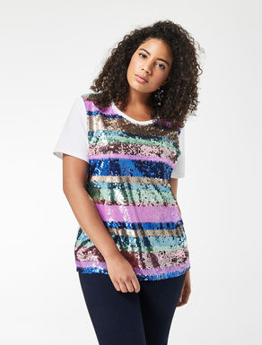 Jersey T-shirt with sequins