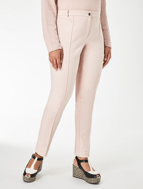 Super-slim cotton trousers