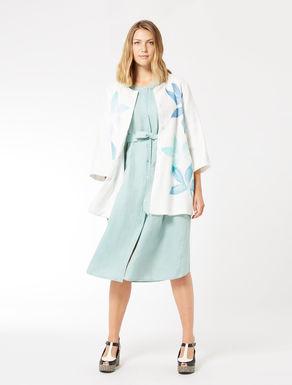Basketweave jacket with print