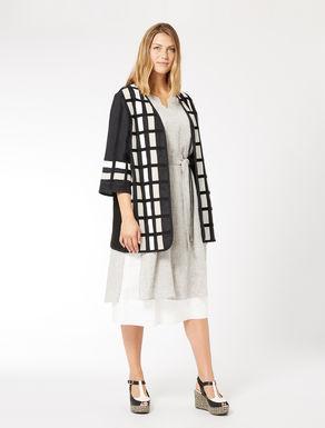 Linen canvas and basketweave jacket