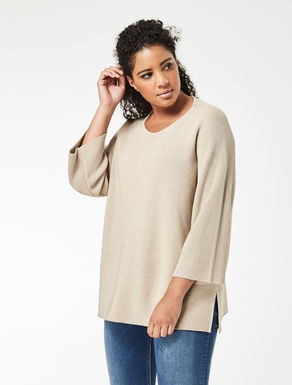Pure cotton and lurex sweater