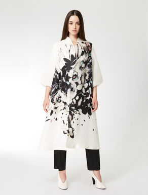 Silk gazar duster coat