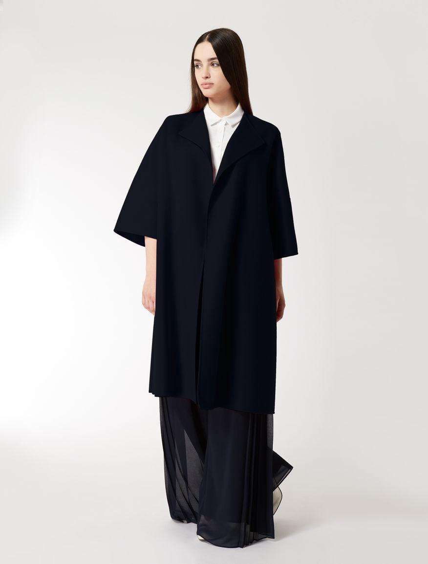 Mantel dunkelblau wolle