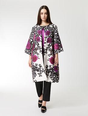 Silk gazar duster coat
