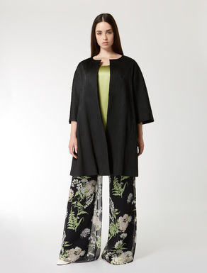 Jacquard duster coat