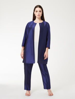 Lightweight shantung duster coat
