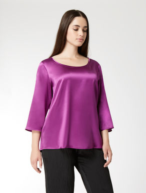 Silk satin tunic