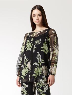 Silk georgette tunic