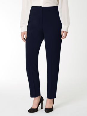 Floaty crêpe slim-fit trousers