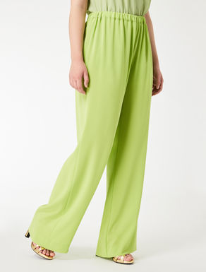 Wide, lightweight triacetate trousers