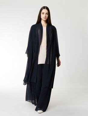 Pleated georgette duster coat