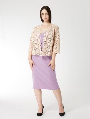 Floral macramé jacket