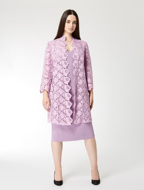 Manteau en macramé fleuri