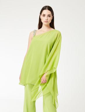 Silk georgette poncho