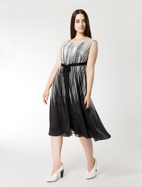 Silk satin and georgette dress